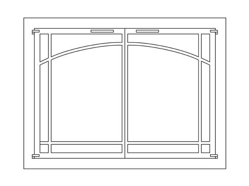 Arch Window Pane