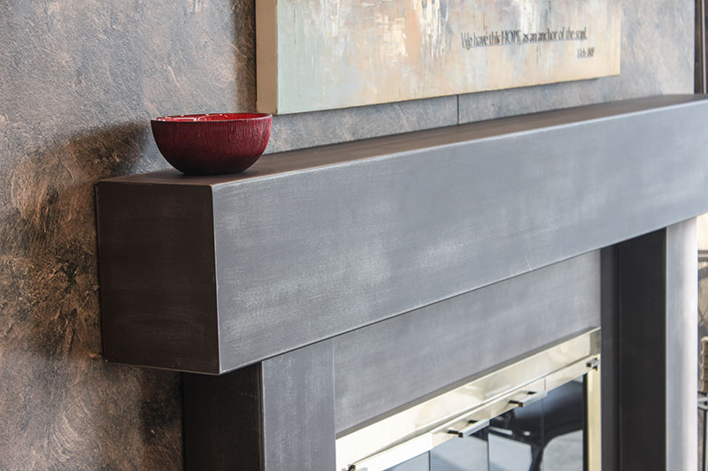 Shelves Mantels Stoll Industries, Stainless Steel Fireplace Mantel