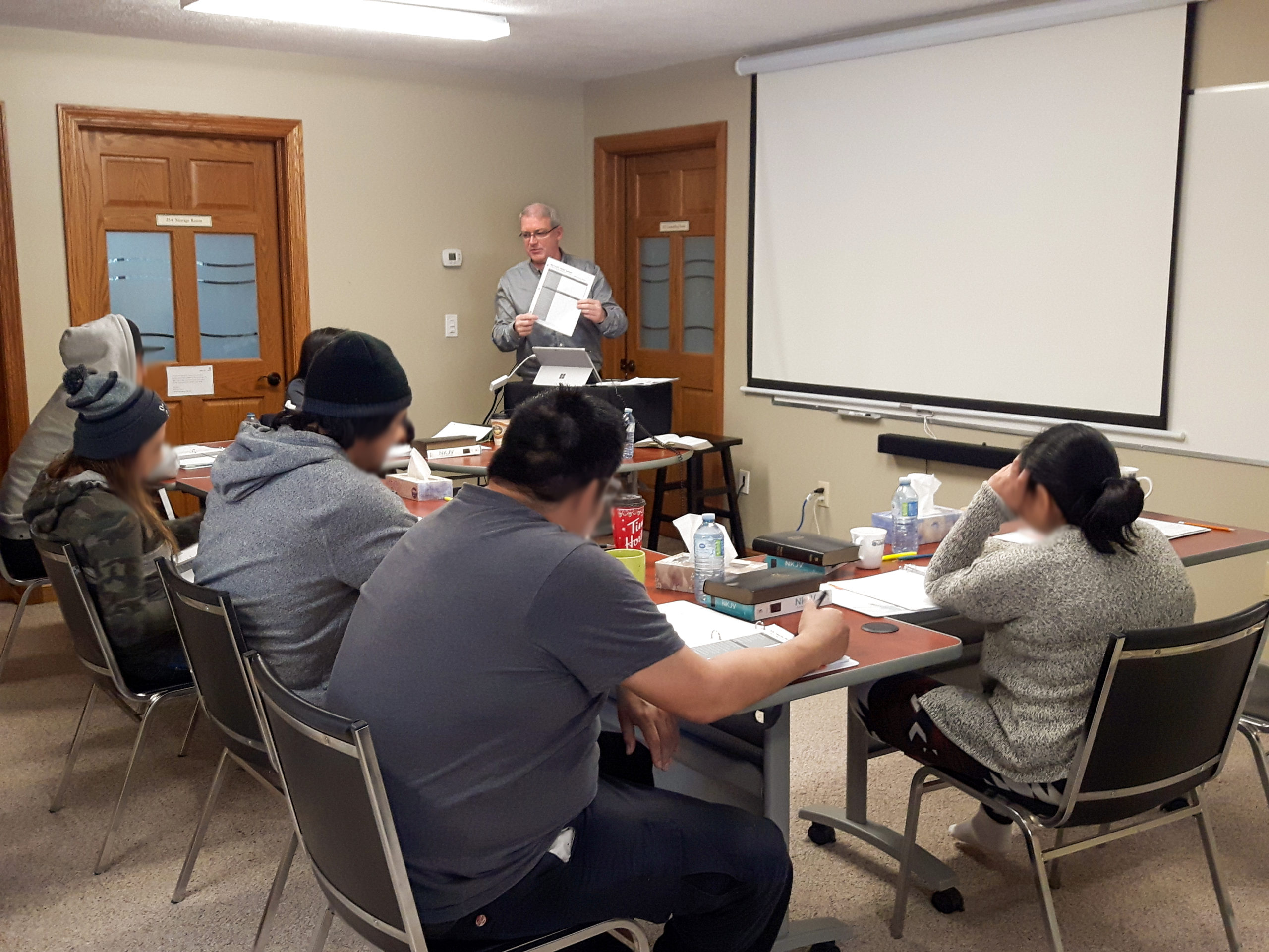 Mark teaching during a Family Counseling Program