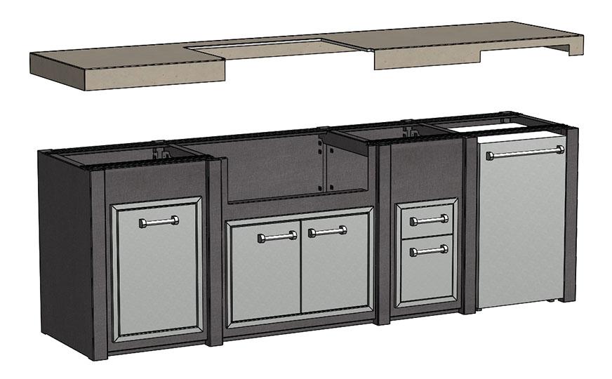 108 Outdoor Kitchen Countertop Explode