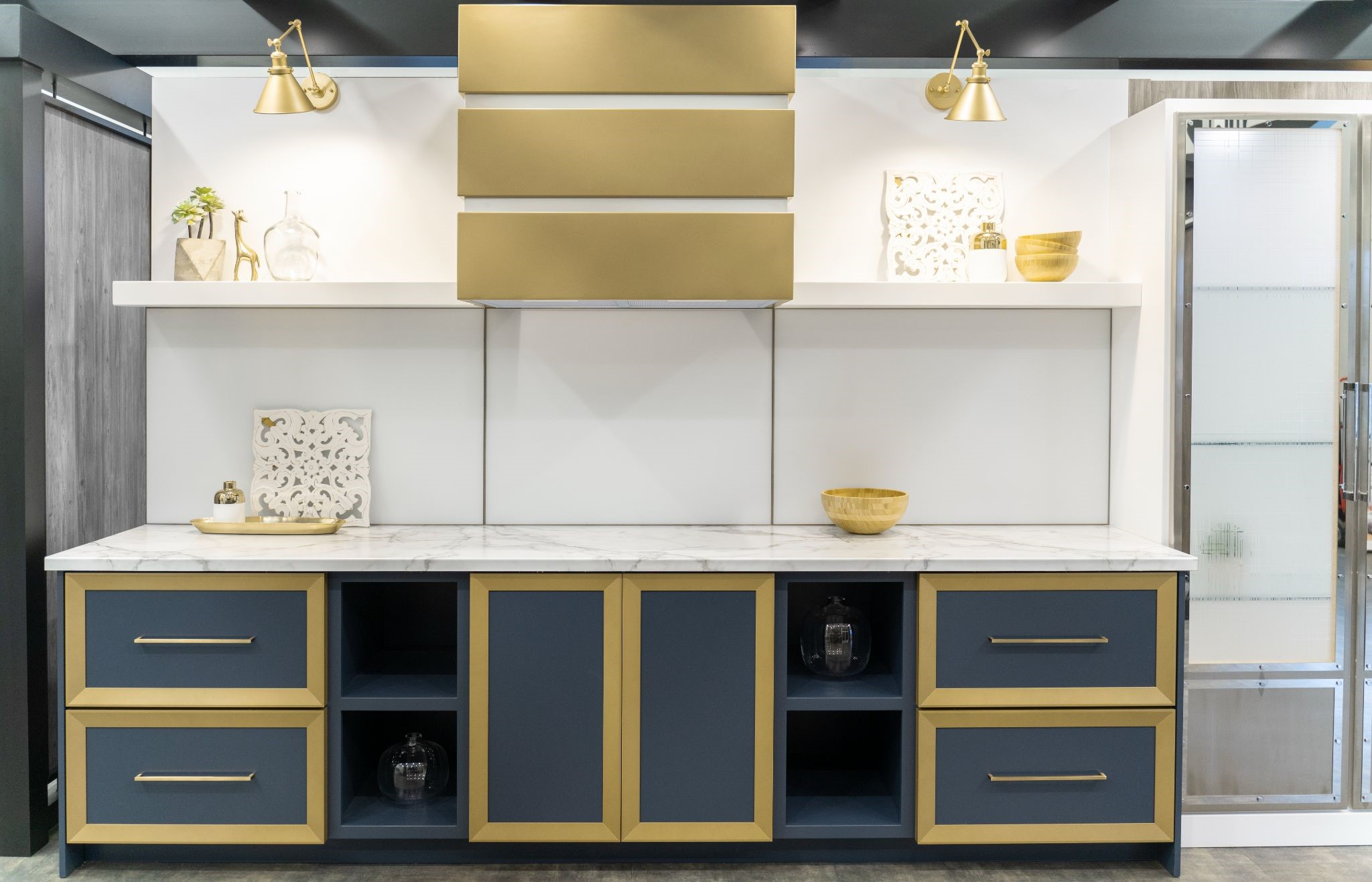 Range Hood in Satin Gold by Stoll Industries